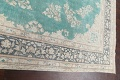 Muted Distressed Floral Kerman Persian Area Rug 8x11 image 12