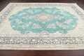Muted Distressed Floral Kerman Persian Area Rug 8x11 image 13