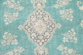 Muted Distressed Floral Kerman Persian Area Rug 8x11 image 4