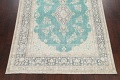 Muted Distressed Floral Kerman Persian Area Rug 8x11 image 8