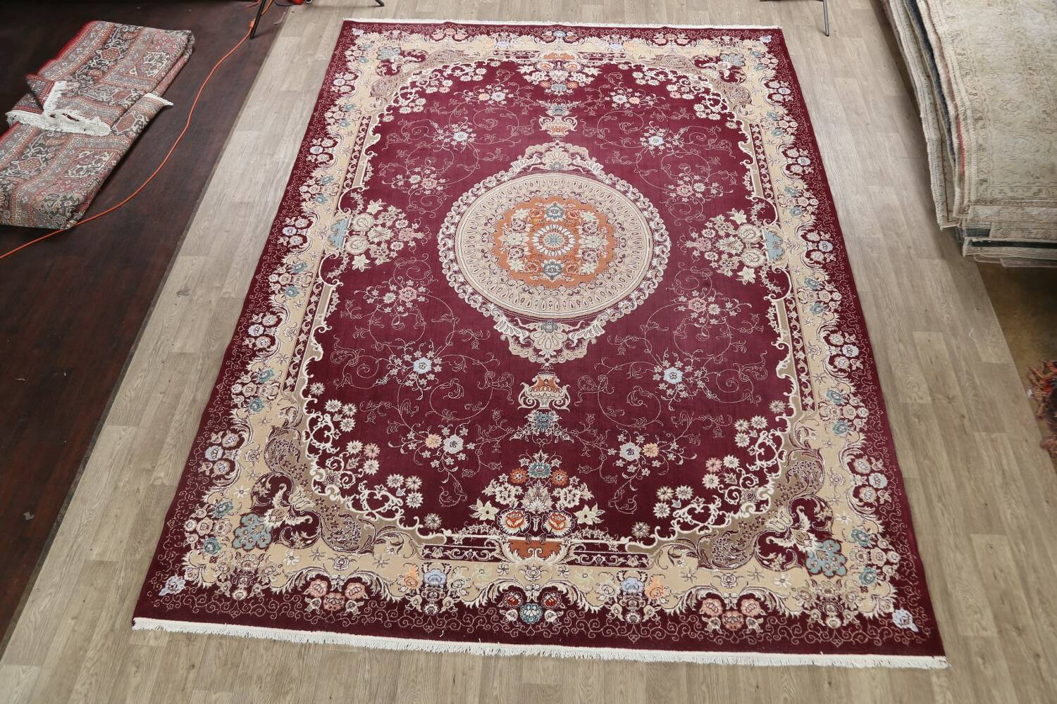 Floral Aubusson Oriental Area Rug 10x13 image 2
