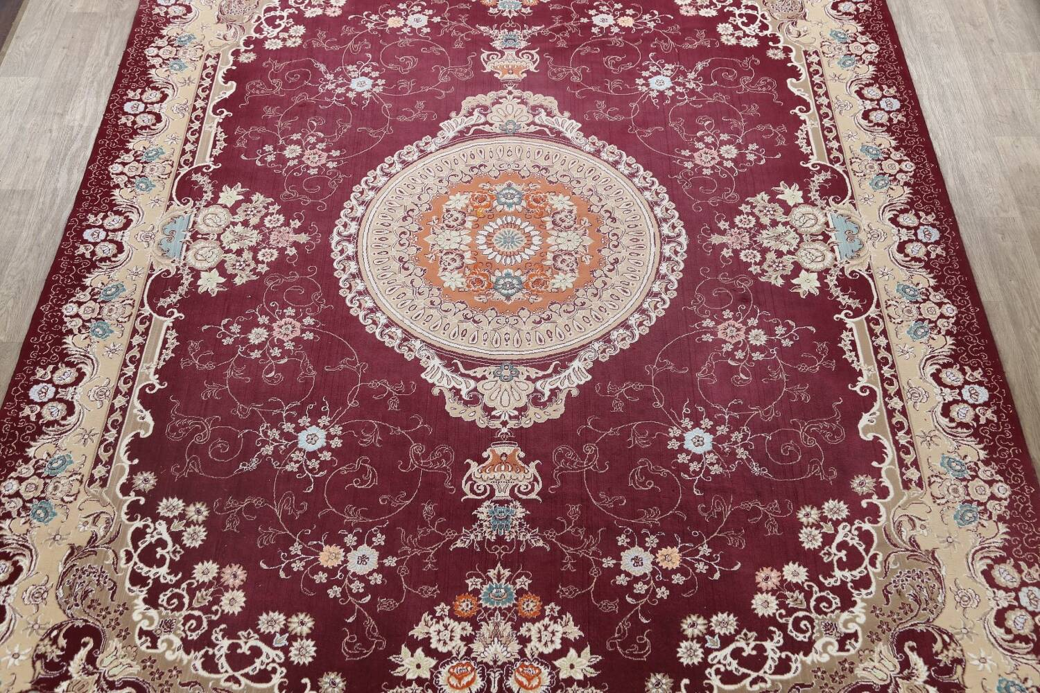 Floral Aubusson Oriental Area Rug 10x13 image 3