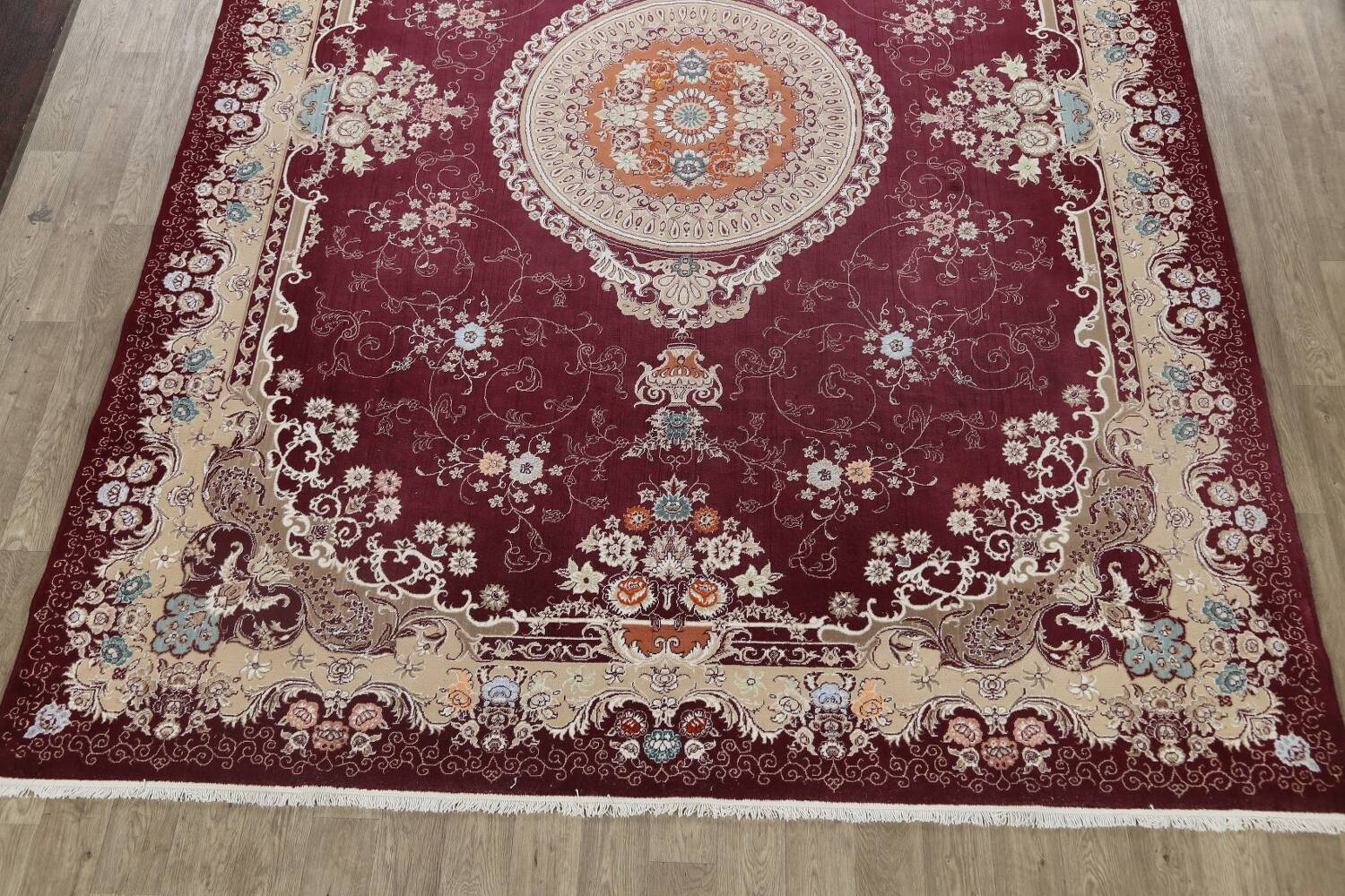 Floral Aubusson Oriental Area Rug 10x13 image 5