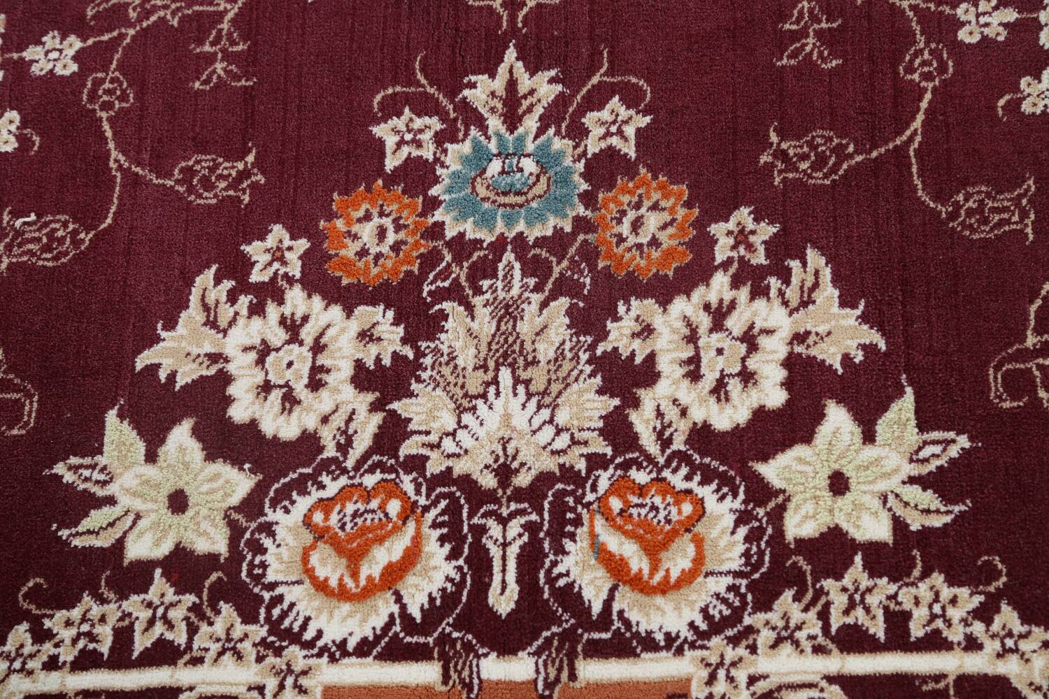 Floral Aubusson Oriental Area Rug 10x13 image 10