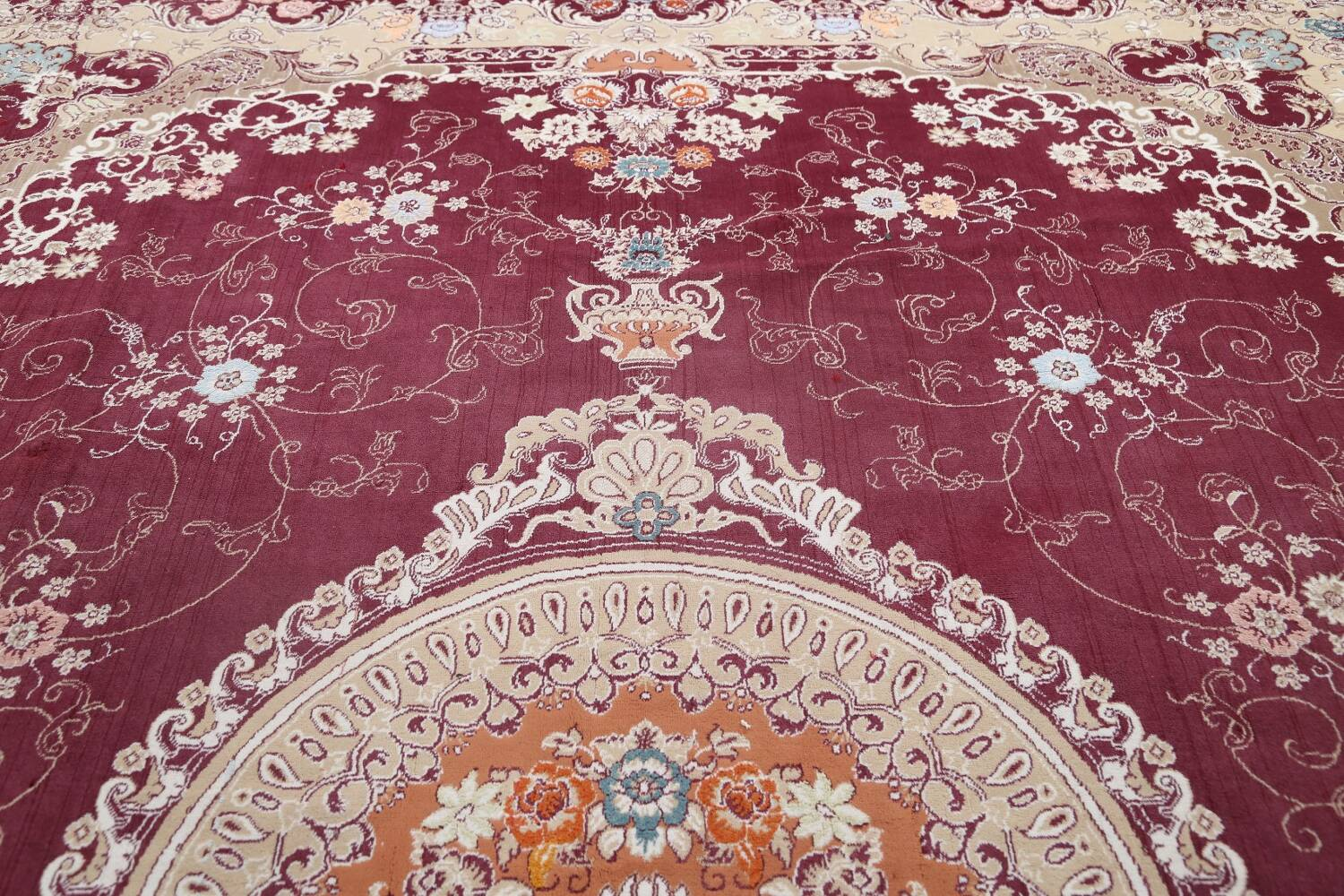 Floral Aubusson Oriental Area Rug 10x13 image 13