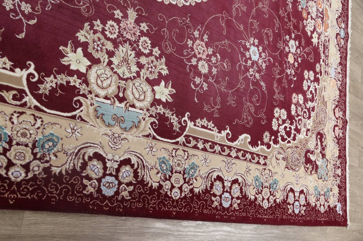 Floral Aubusson Oriental Area Rug 10x13 image 14