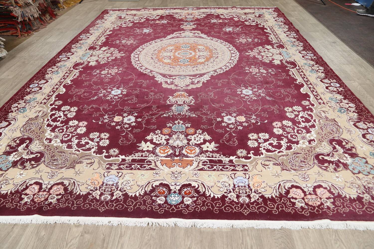 Floral Aubusson Oriental Area Rug 10x13 image 16