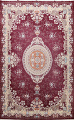 Floral Aubusson Oriental Area Rug 10x13 image 1