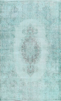 Over-dyed Kerman Persian Area Rug 8x11