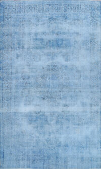 Distressed Over-dyed Kerman Persian Area Rug 8x11