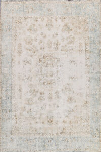 Distressed Tabriz Persian Area Rug 8x10