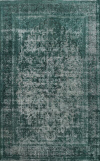Over-Dyed Kerman Persian Area Rug 10x13