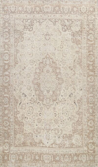Muted Floral Tabriz Persian Area Rug 9x12