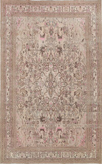 Muted Distressed Hamedan Persian Area Rug 7x9