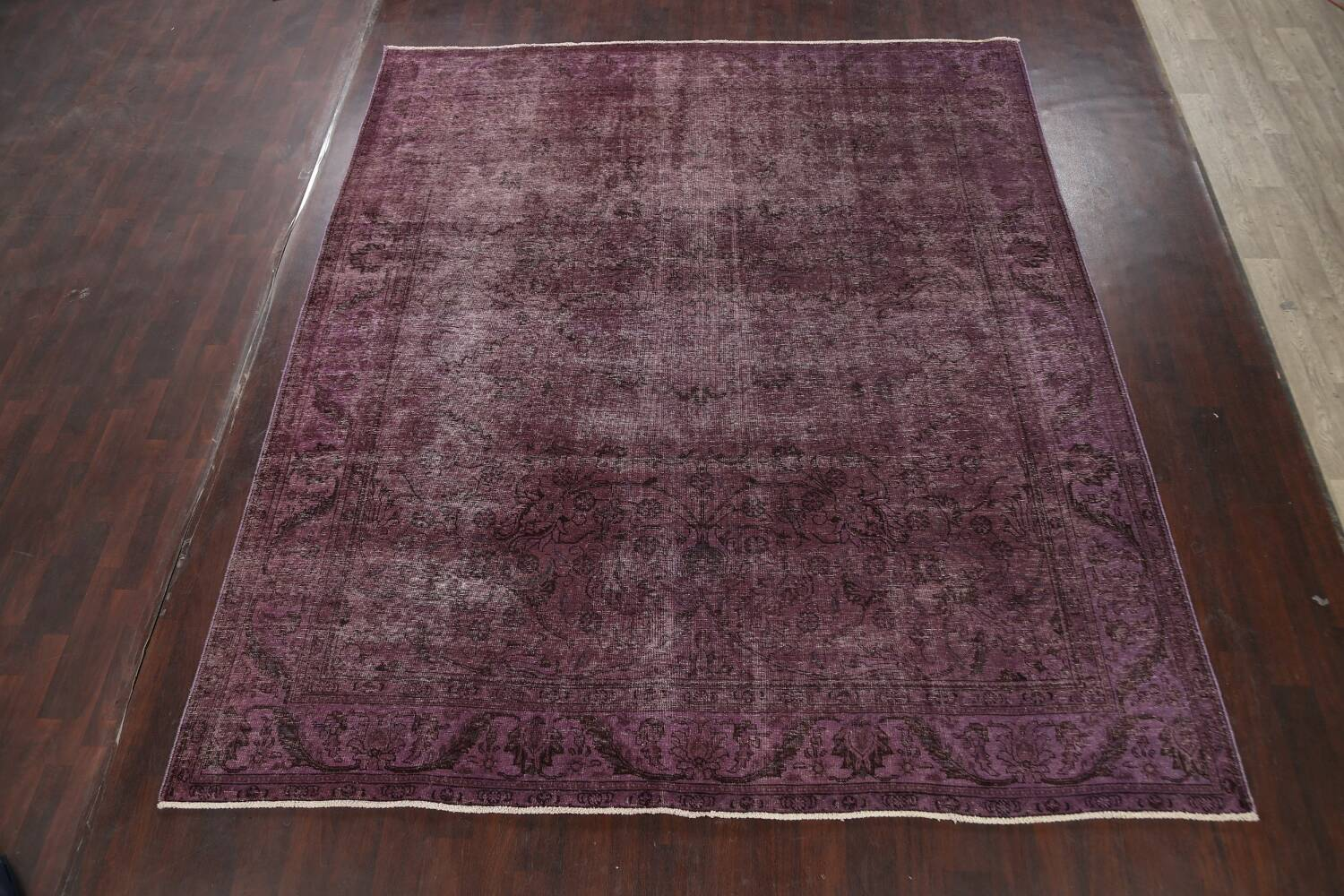 Distressed Over-dyed Tabriz Persian Area Rug 10x11 image 2