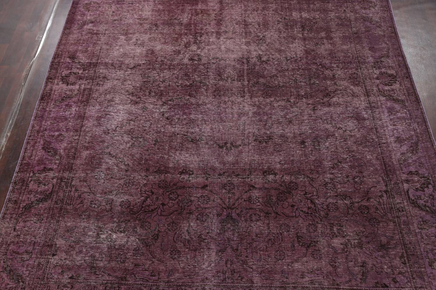 Distressed Over-dyed Tabriz Persian Area Rug 10x11 image 3