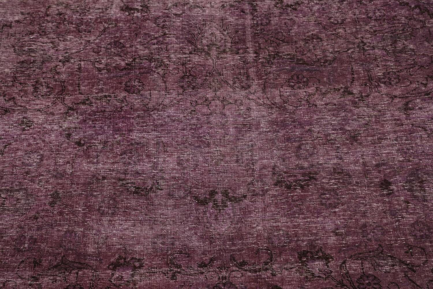 Distressed Over-dyed Tabriz Persian Area Rug 10x11 image 4