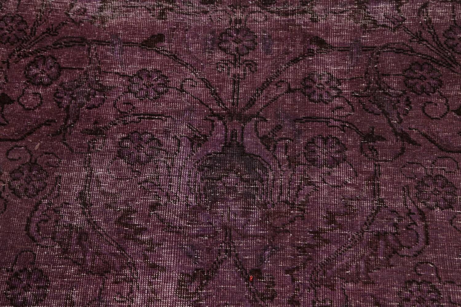 Distressed Over-dyed Tabriz Persian Area Rug 10x11 image 10