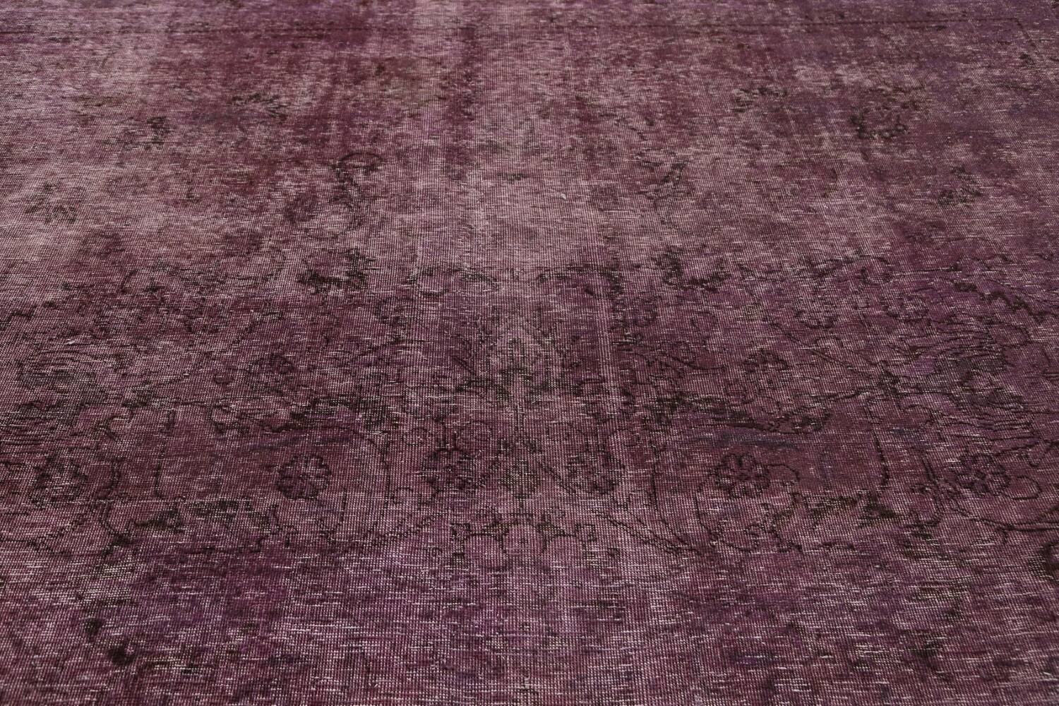 Distressed Over-dyed Tabriz Persian Area Rug 10x11 image 11