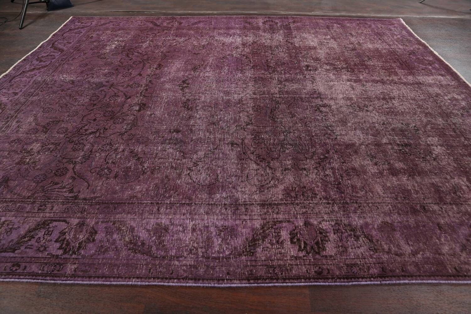 Distressed Over-dyed Tabriz Persian Area Rug 10x11 image 13