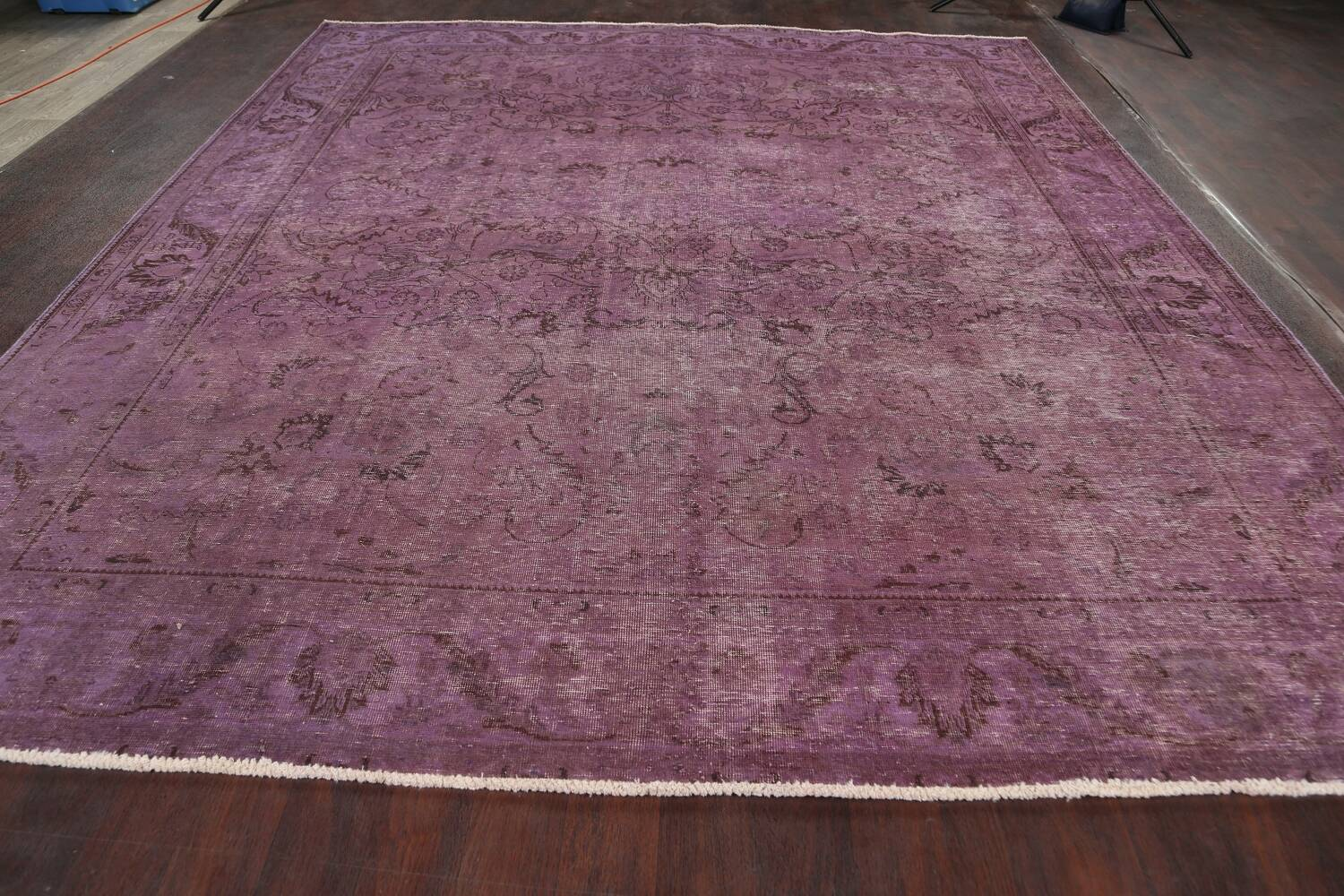 Distressed Over-dyed Tabriz Persian Area Rug 10x11 image 14