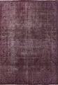 Distressed Over-dyed Tabriz Persian Area Rug 10x11 image 1