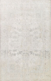 Muted Distressed Tabriz Persian Area Rug 8x10