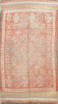 Pre-1900 Antique Tribal Moroccan Oriental Area Rug 6x10