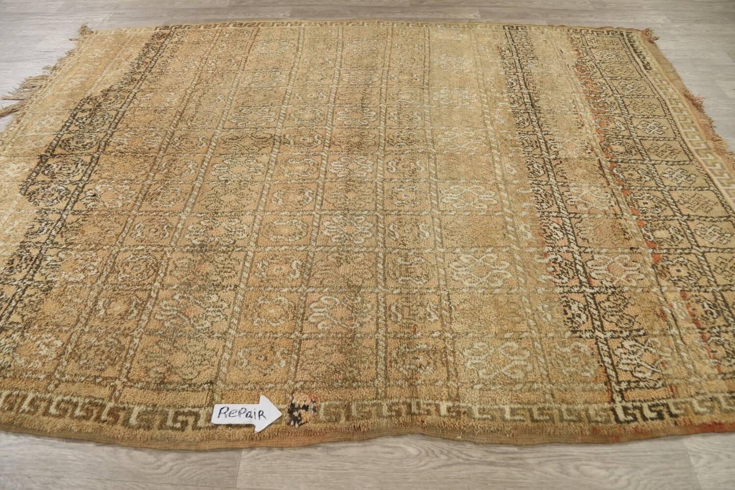 All-Over Tribal Moroccan Oriental Area Rug 7x9 image 13