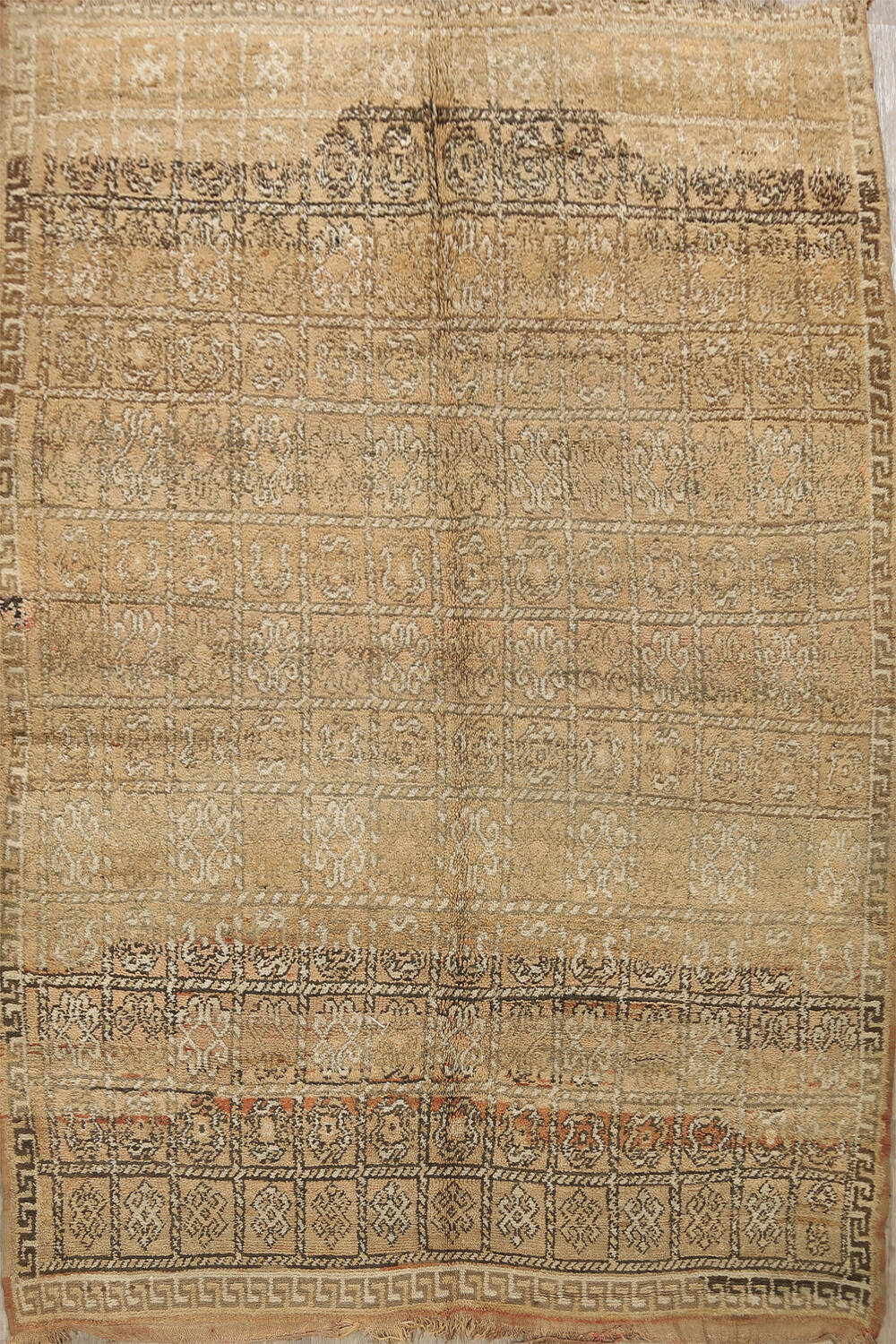 All-Over Tribal Moroccan Oriental Area Rug 7x9 image 1