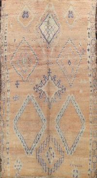 Antique Tribal Moroccan Oriental Area Rug 7x12