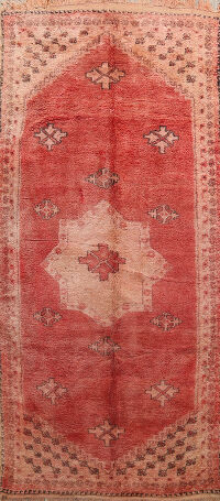 Antique Tribal Moroccan Oriental Area Rug 6x12