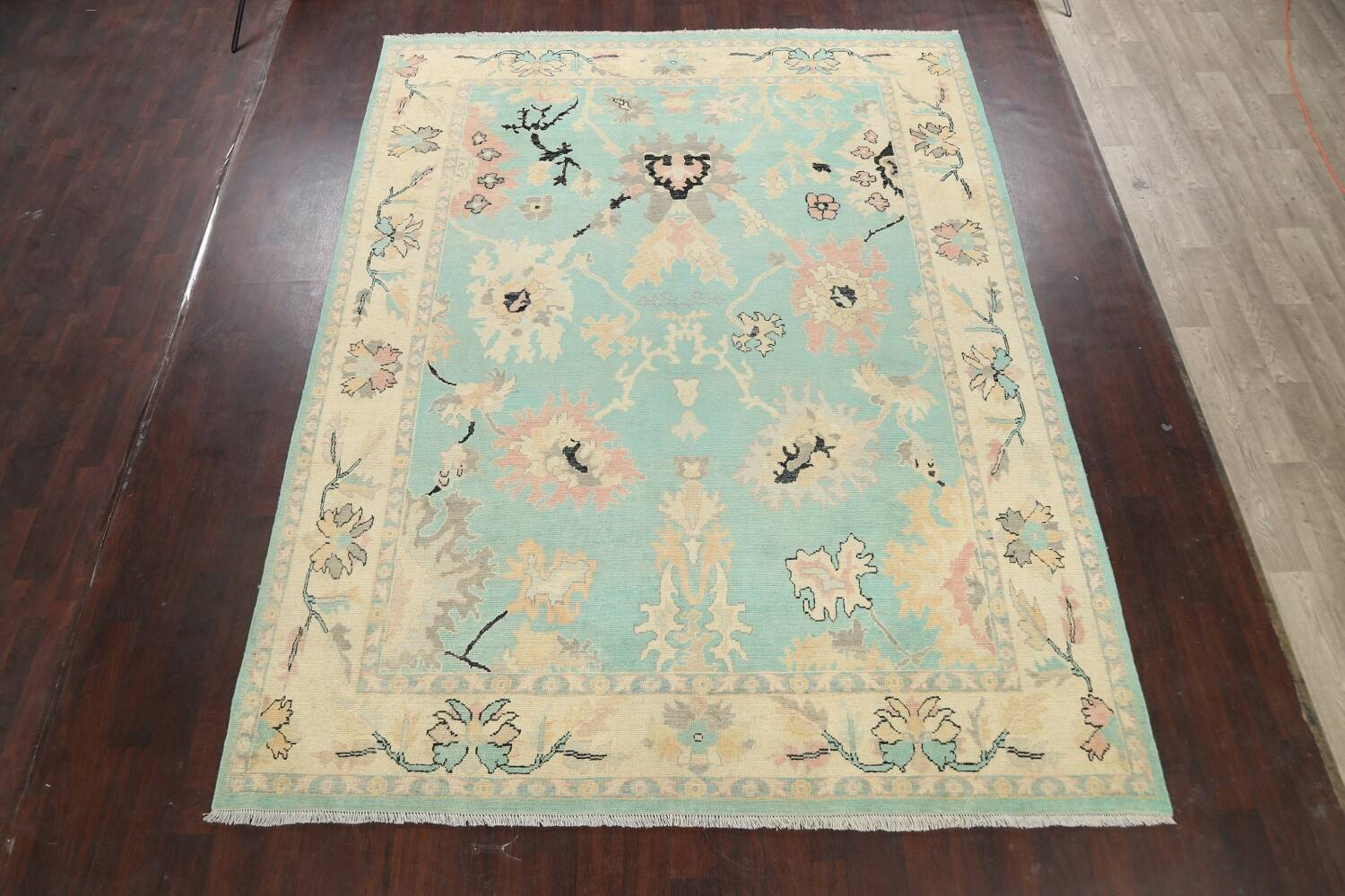 All-Over Oushak Oriental Area Rug 9x11 image 2