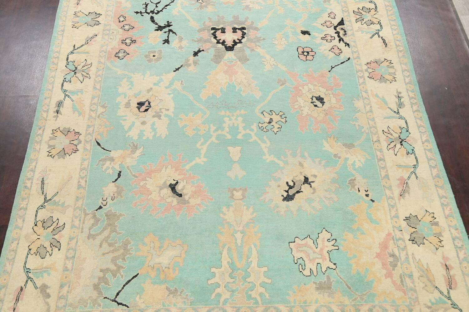 All-Over Oushak Oriental Area Rug 9x11 image 3