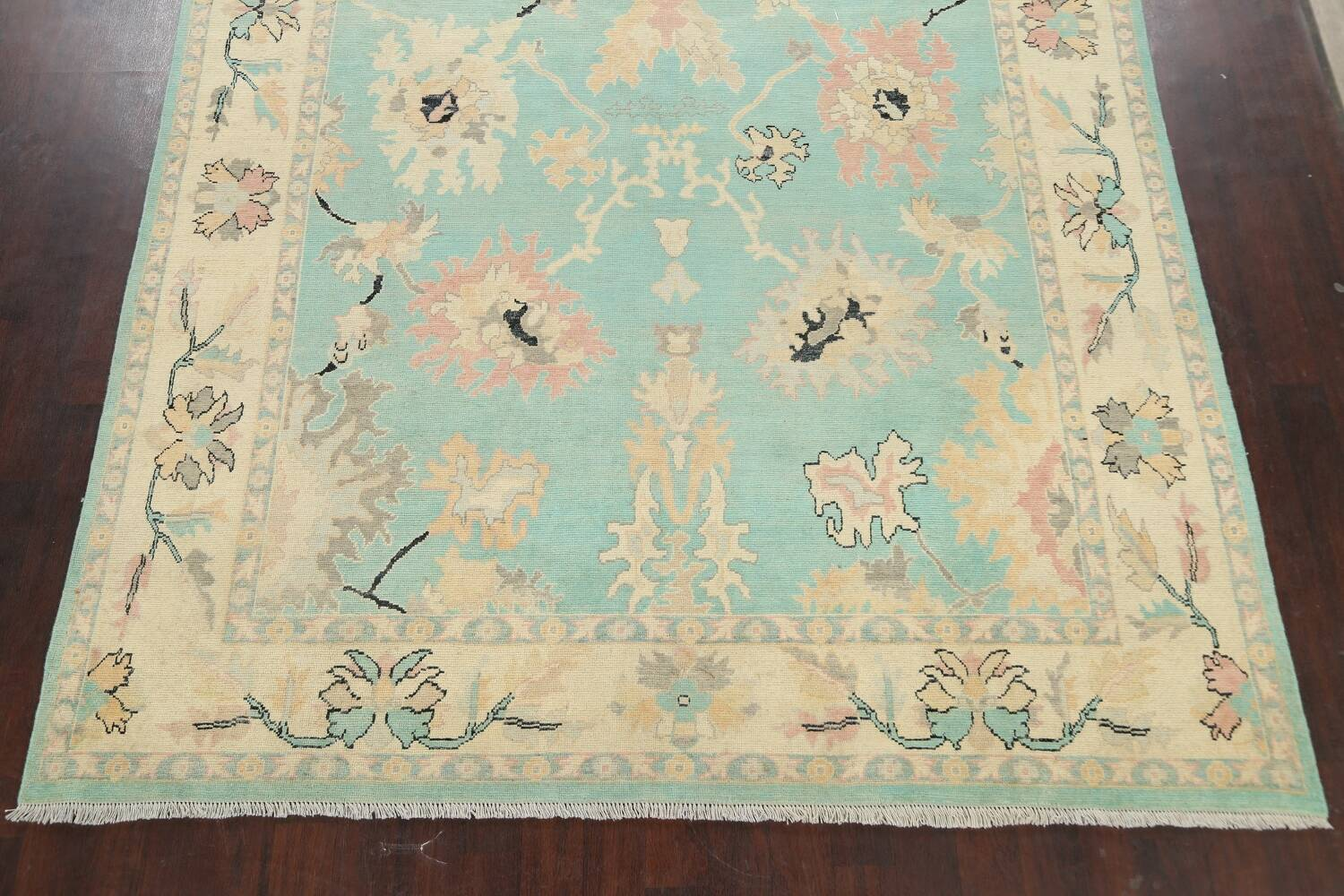 All-Over Oushak Oriental Area Rug 9x11 image 8