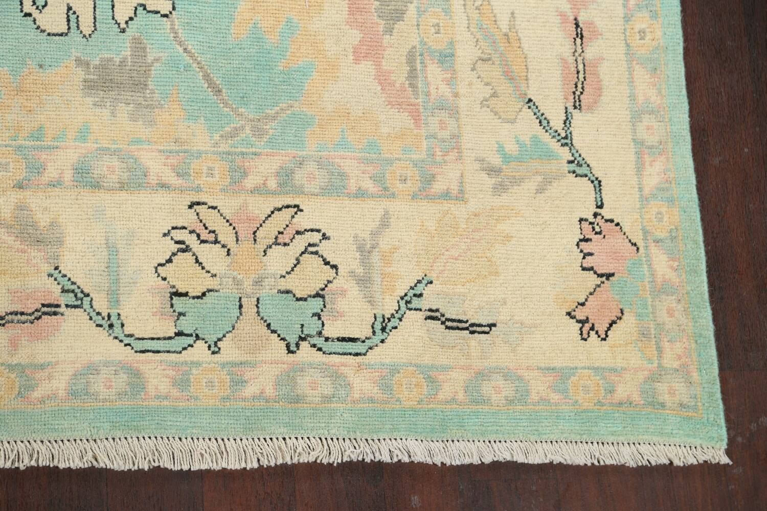 All-Over Oushak Oriental Area Rug 9x11 image 5