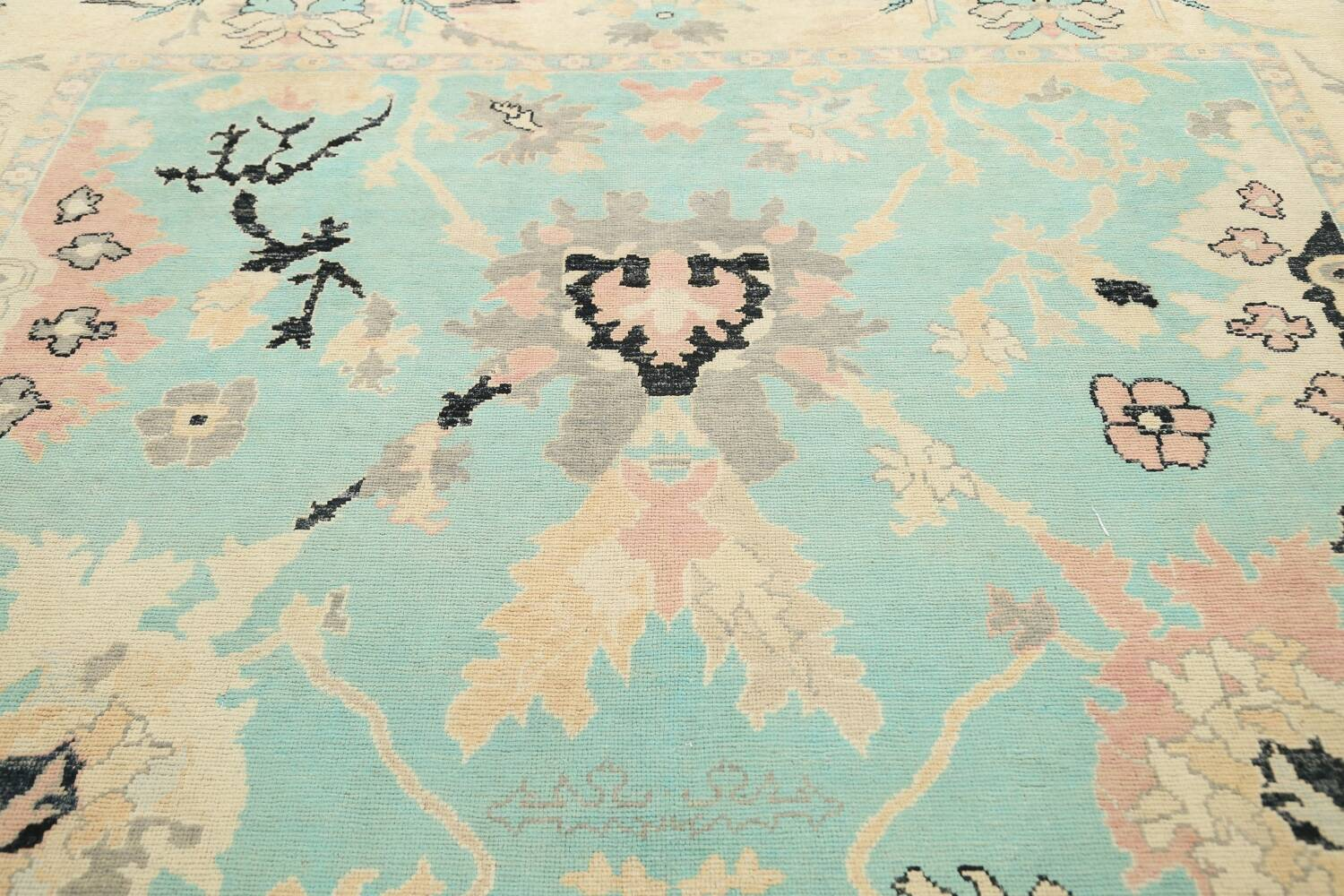All-Over Oushak Oriental Area Rug 9x11 image 12