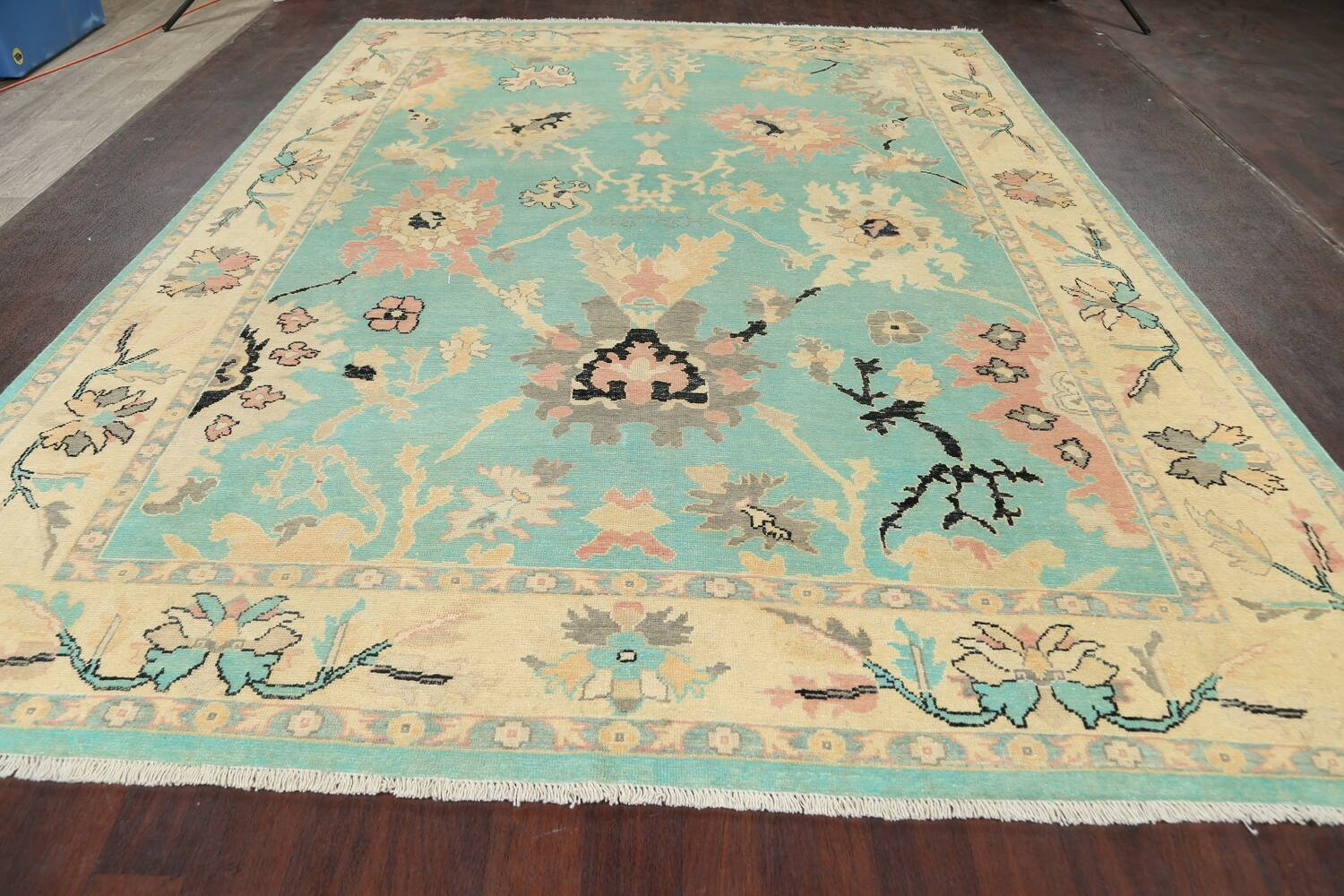 All-Over Oushak Oriental Area Rug 9x11 image 15