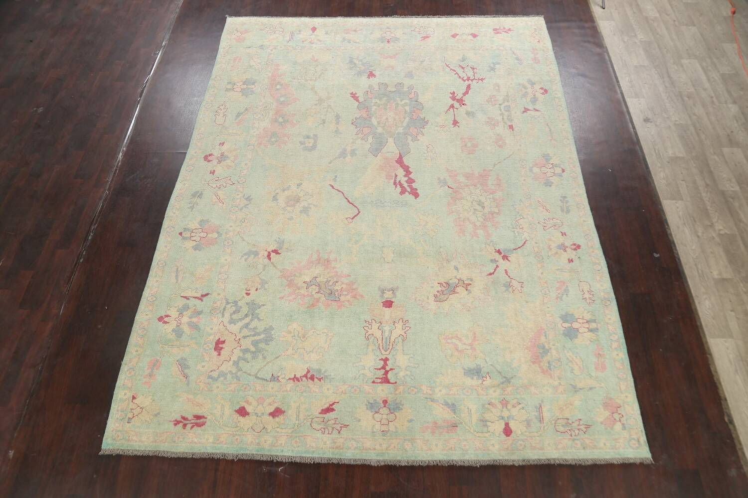 All-Over Oushak Oriental Area Rug 9x12 image 2
