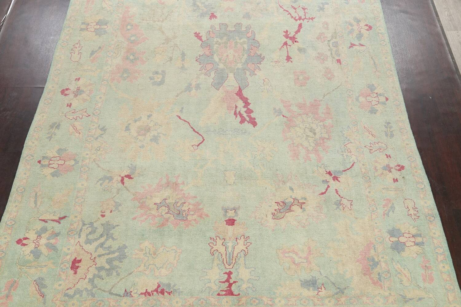 All-Over Oushak Oriental Area Rug 9x12 image 3