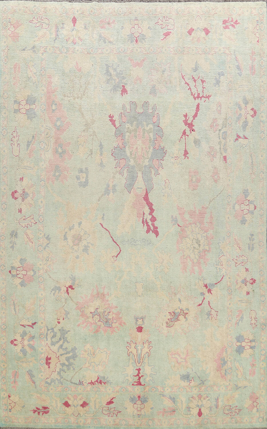 All-Over Oushak Oriental Area Rug 9x12 image 1