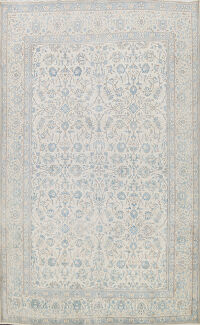 Muted Distressed Kashan Persian Area Rug 9x12