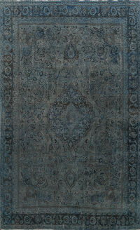 Over-dyed Floral Tabriz Persian Area Rug 9x12