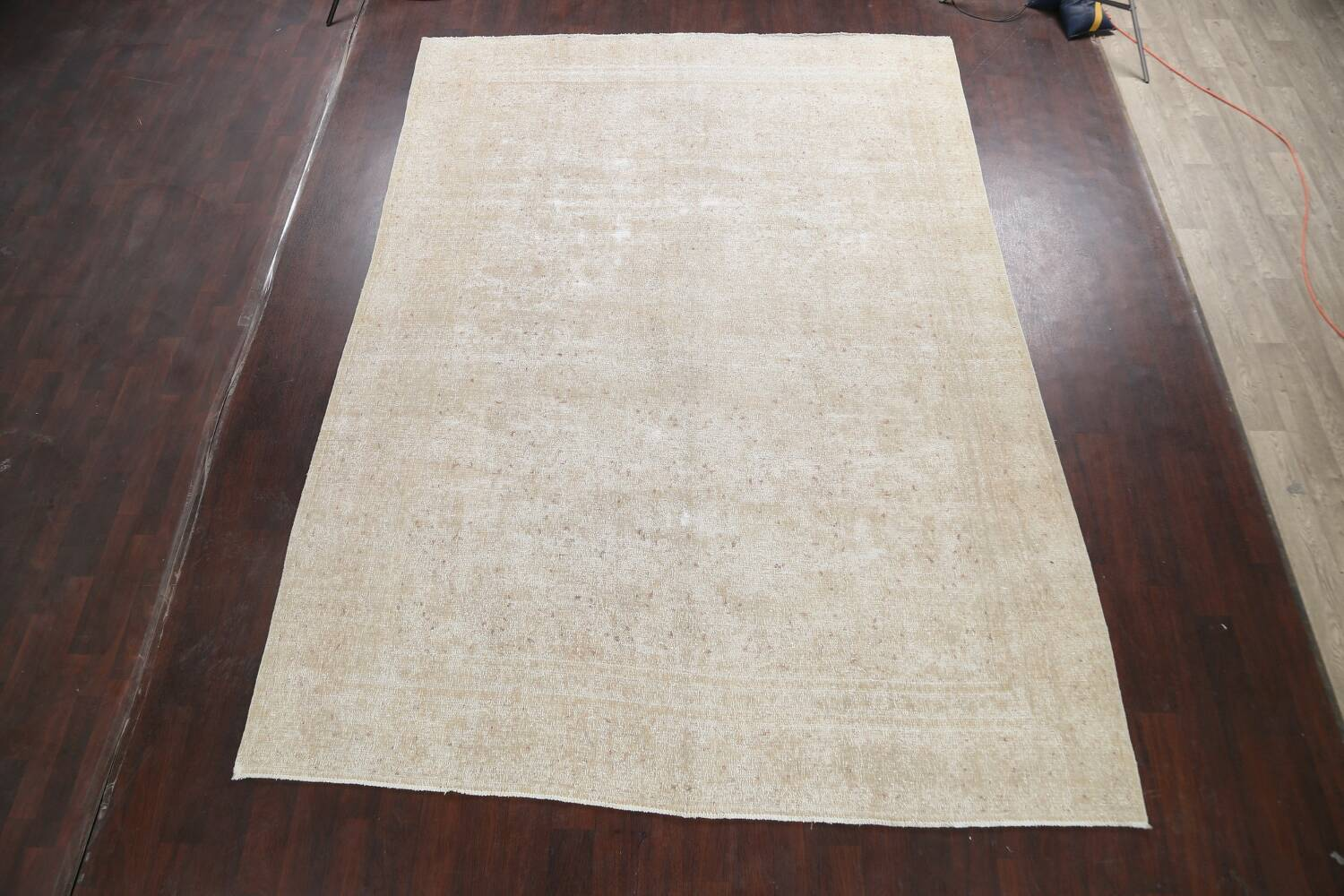 Muted Distressed Kashan Persian Area Rug 8x12 image 2