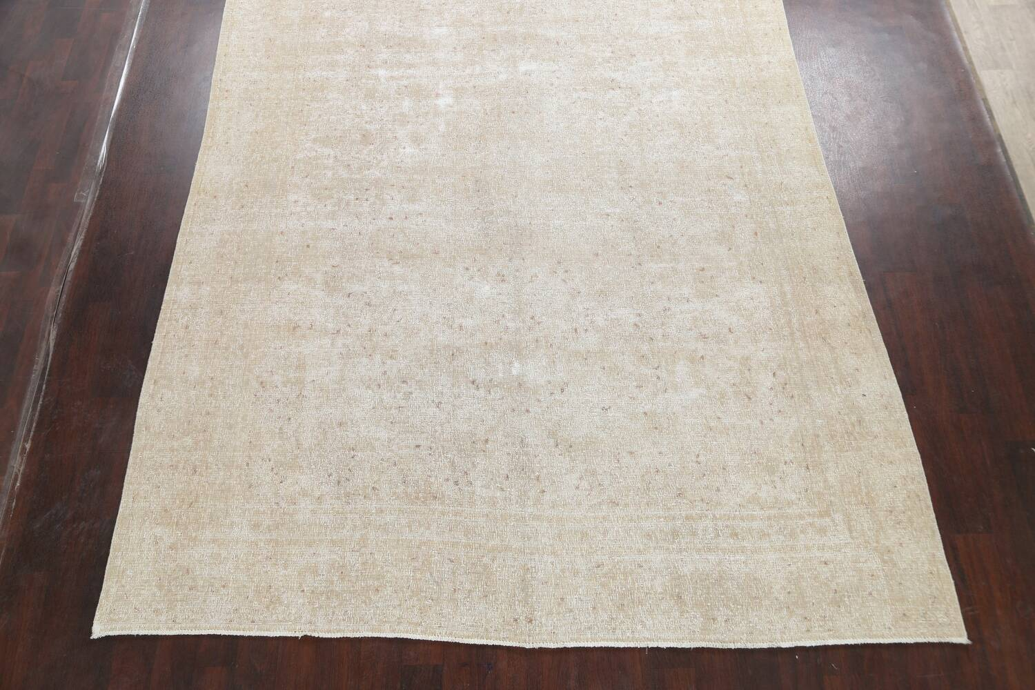 Muted Distressed Kashan Persian Area Rug 8x12 image 8