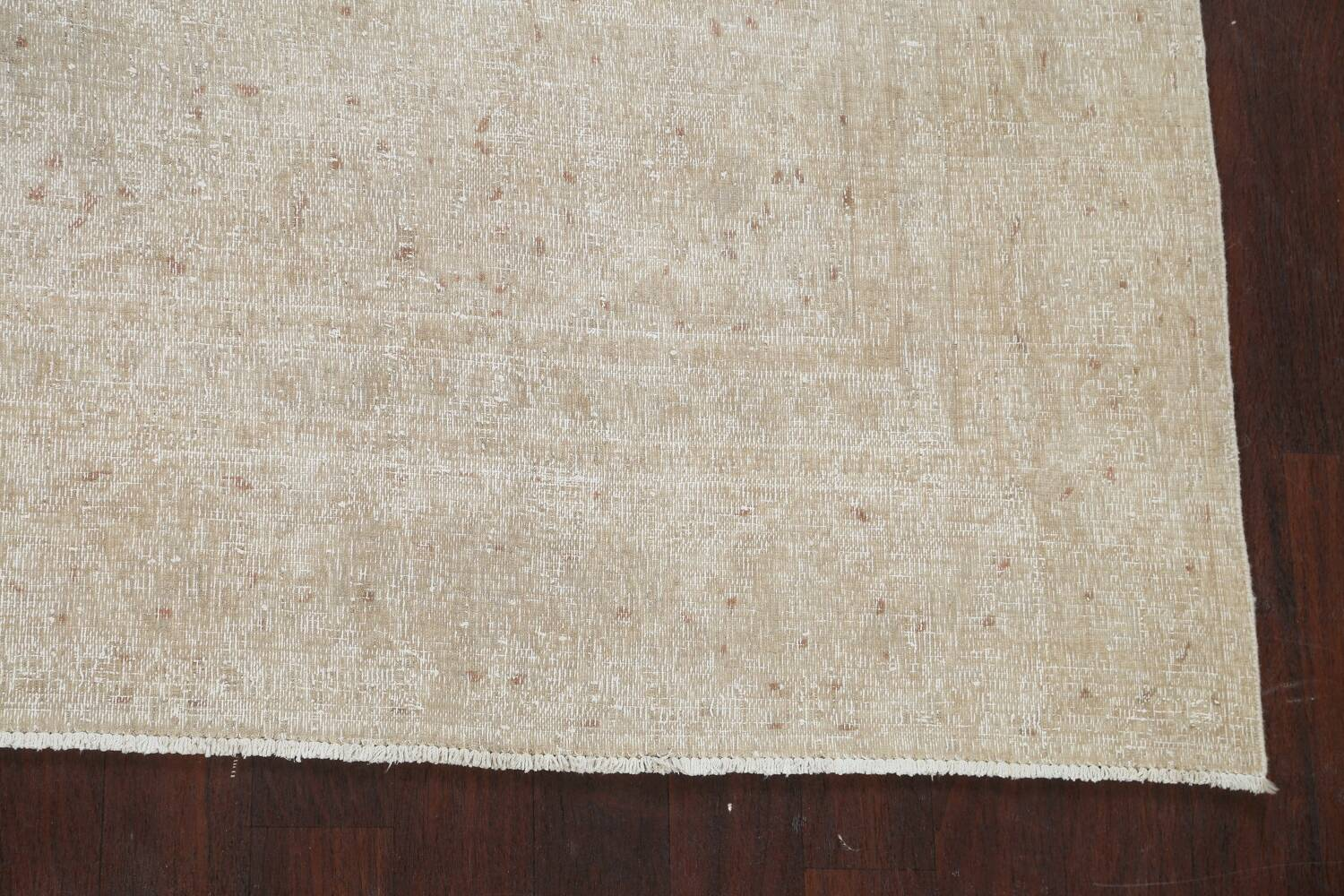 Muted Distressed Kashan Persian Area Rug 8x12 image 5