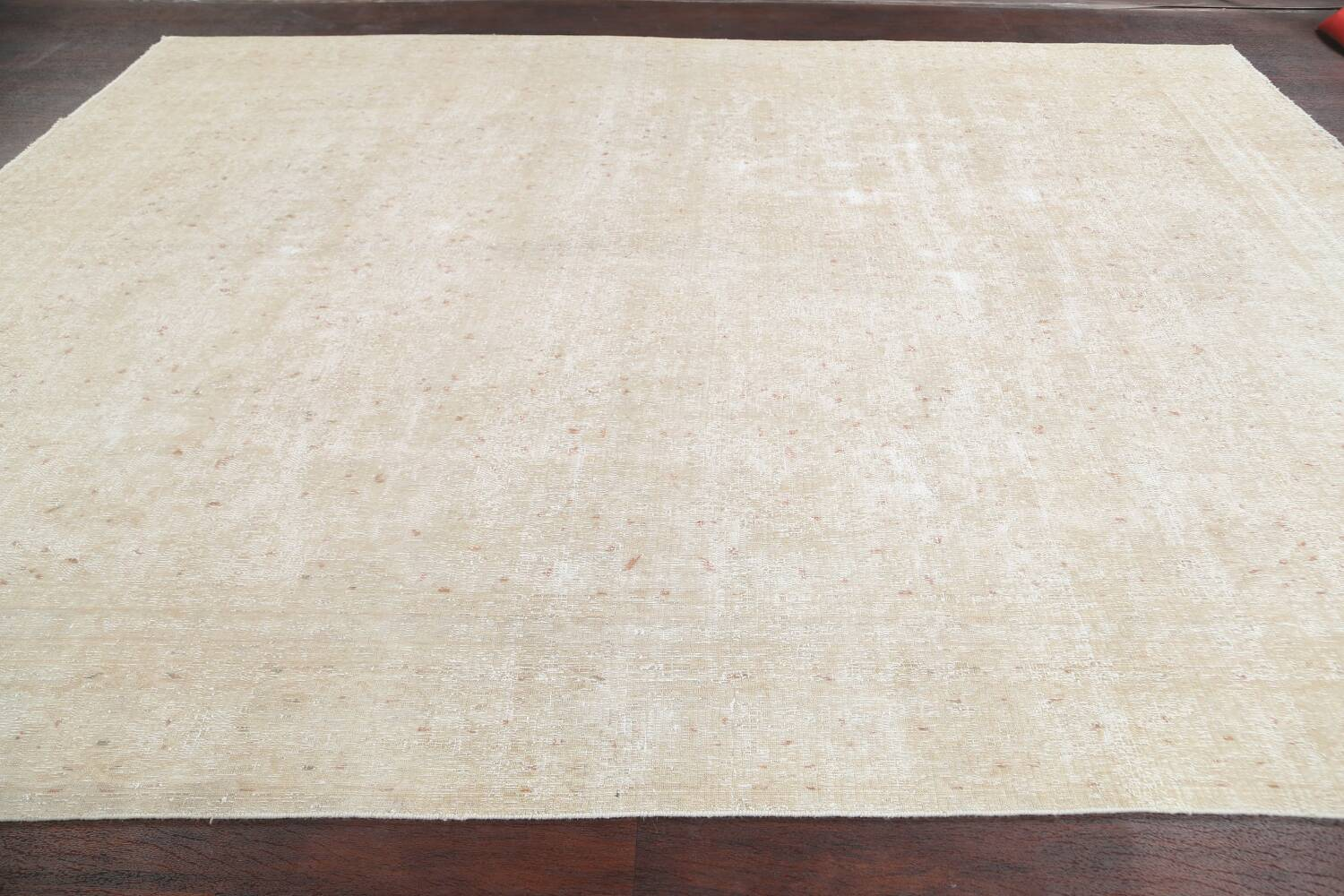 Muted Distressed Kashan Persian Area Rug 8x12 image 11