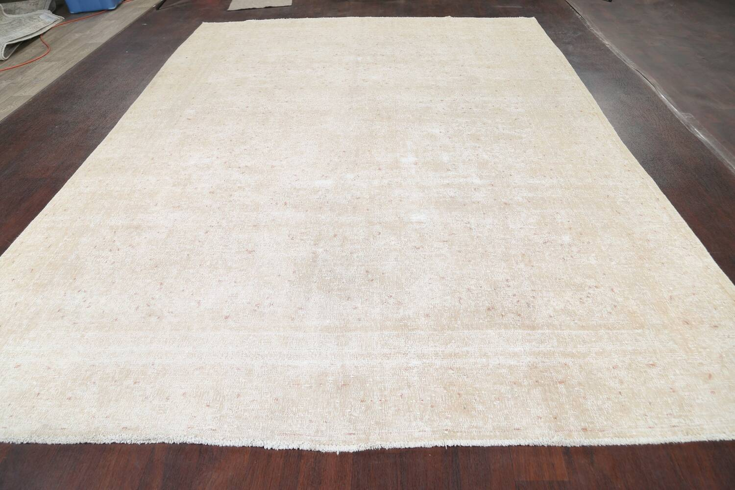 Muted Distressed Kashan Persian Area Rug 8x12 image 12