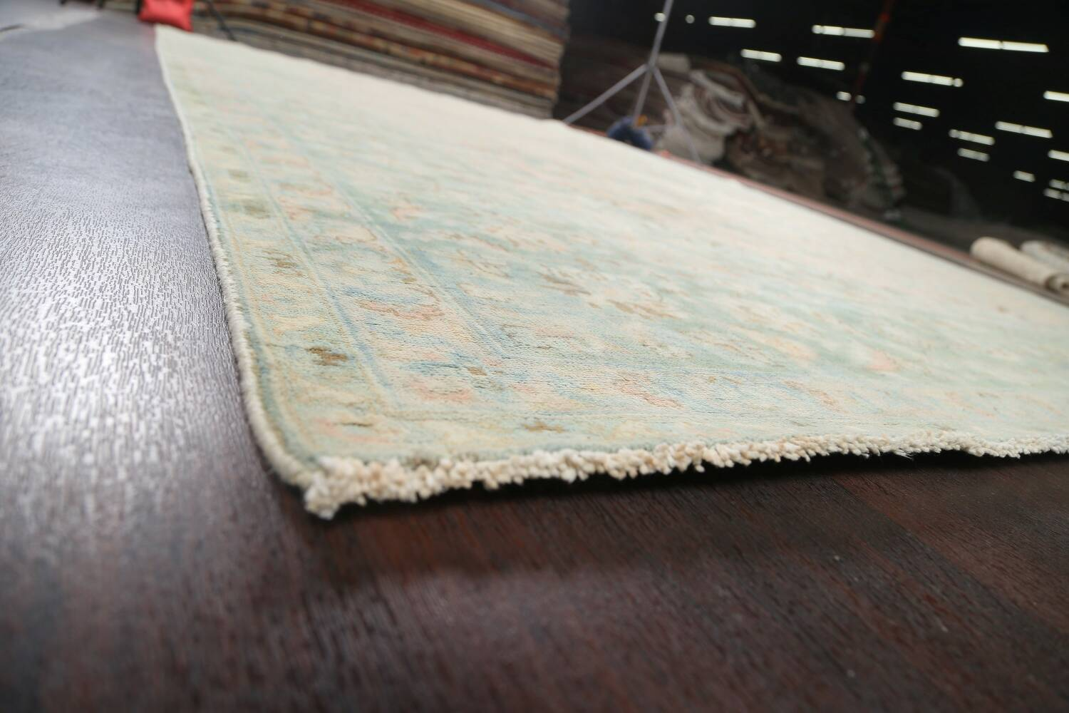 Muted Distressed Kashan Persian Area Rug 10x13 image 6