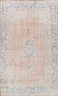 Muted Distressed Kerman Persian Area Rug 9x12